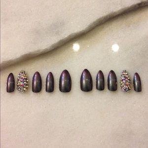Oil Slick- Luxury Press on Nails